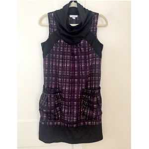 RICHARD CHAI for Target Plaid Cowl Neck Dress S